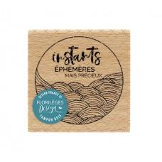 Instants éphémères - Wood Mounted Florilèges Design Stamp