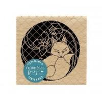 Kitsune - Wood Mounted Florilèges Design Stamp