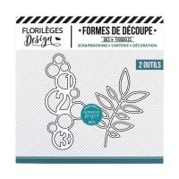 Florilèges Outil De Découpe CERCLES ET FEUILLAGE