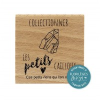 PETITS CAILLOUX-  Wood Mounted Florilèges Design Stamp
