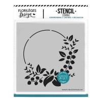 Couronne des fêtes - Stencil by Florilèges Design