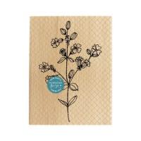FLEURS DES CHAMPS-  Wood Mounted Florilège Stamp