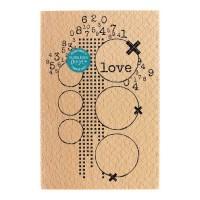 LOVE  Wood Mounted Florilège Stamp