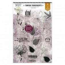 Florilèges Design clear stamps - Terre des sens collection Été Indien