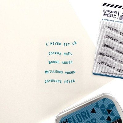 Petits mots bannières 1 - Tampons clear de Florilèges Design.