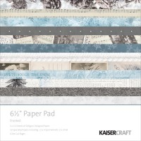 """Kaisercraft Frosted Cardstock Pad 6.5"""" x 6.5"""""""