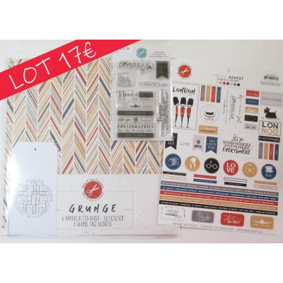 Grunge collection SPECIAL OFFER - papers, embellishments, stamps from Mes p'tits ciseaux