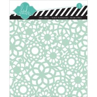 Doily flower Template pochoir 15x15