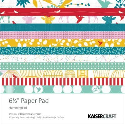 """Hummingbird Cardstock Pad 6.5"""" x 6.5"""" - Kaisercraft"""