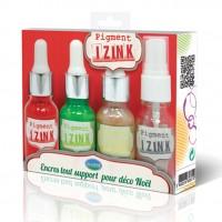 Izink kit of gold, tomato, forest & spray