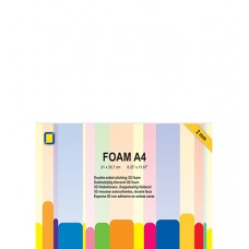 3D Foam sheet - A4, double sided self adhesive, 2mm thick