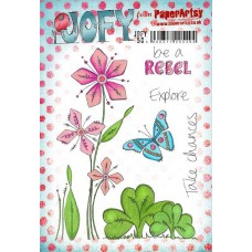 PaperArtsy stamps JOFY50 mounted on EZ foam
