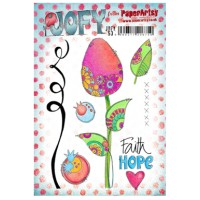 PaperArtsy stamps JOFY53 mounted on EZ foam