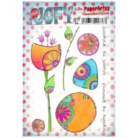 PaperArtsy stamps JOFY54 mounted on EZ foam