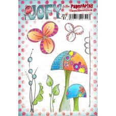 PaperArtsy stamps JOFY61 mounted on EZ foam