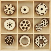 Kaisercraft Cogs: engrenages en bois
