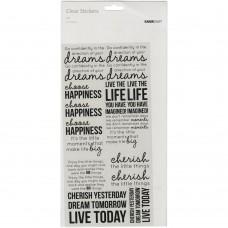 Transparents stickers - Kaisercraft 'Life'
