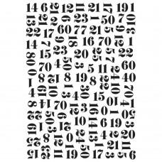 Numbers - Kaisercraft Embossing Folder