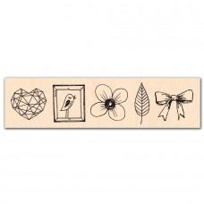 Se Mettre au Vert - Wood-mounted stamp