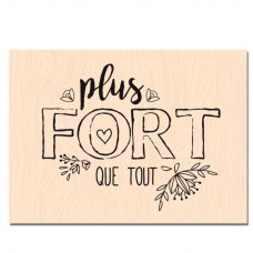 Plus fort que tout - Wood-mounted stamp
