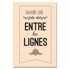 Entre les lignes - Wood-mounted stamp