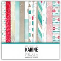 Mint, Choco & Gourmandises collection papiers: Ateliers de Karine