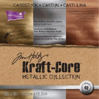 "Kraft-Core Metallic Collection 6"" x 6"" Tim Holtz"