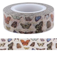 Butterflies Washi Tape 15mm & 10mm 15m