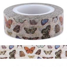 Butterflies Washi Tape 15mm & 10mm 15m