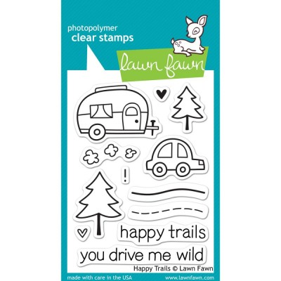 Happy Trails - clear stamps by Lawn Fawn