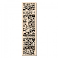 Batik Bordure - wood mounted stamp: Ateliers de Karine