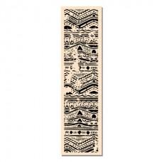 Bordure Batik - Tampon montés sur bois: Ateliers de Karine