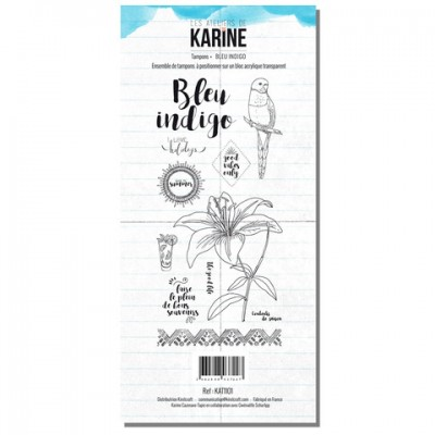 Bleu indigo - Tampons transparents: Ateliers de Karine