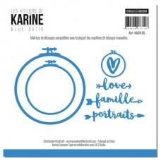 Dies - Cercles à broder,: Atelier de Karine Blue Batik