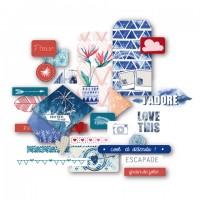 Blue Batik Die-cuts: Atelier de Karine