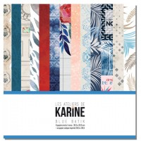 Blue Batik collection de papiers: Ateliers de Karine