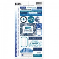 Stickers - Blue Batik: Ateliers de Karine