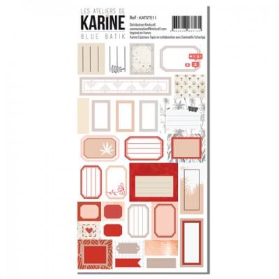 Label Stickers - Blue Batik: Ateliers de Karine