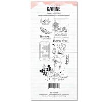 Clear stamps - La vie est belle: Ateliers de Karine