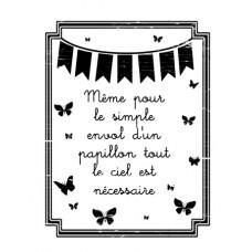 Envol de papillons - Esprit bucolique Stamps