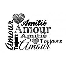 Amour Amitié - Plaisir d'aimer Tampons