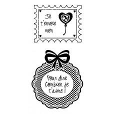 Je t'envoie mon coeur - Plaisir d'aimer Stamps