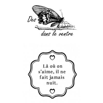 'Des papillons dans la ventre' - Plaisir d'aimer Stamps
