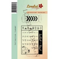 Calendrier Vacances stamps by Lorelaï Design