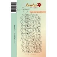 Texture chiffres stamp by Lorelaï Design