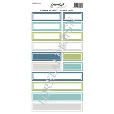 Sheet labels - Memento collection by Lorelaï Design