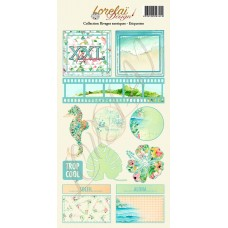 Sheet of embellishments - Rivages Exotiques by Lorelaï Design