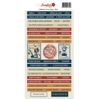 Sheet of words and phrases - Il est temps by Lorelaï Design