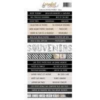 Sheet of words and phrases - Mots Rock Family by Lorelaï Design