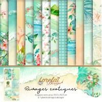 Collection 'Rivages Exotiques' by Lorelaï Design - papers & tags